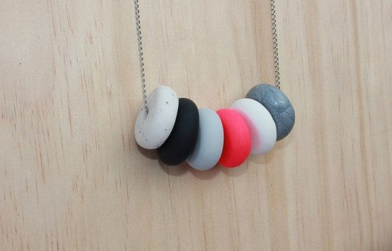 Geometric Pink Jelly Necklace