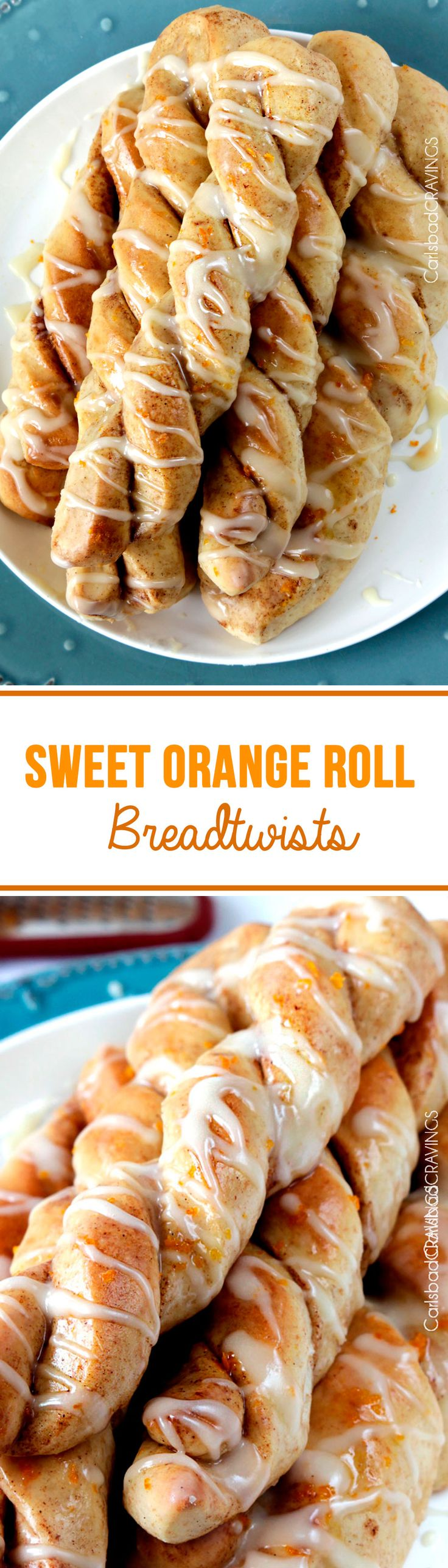 Sweet Orange Roll BreadTwists | only 25 minute rise and SO addictive and easy! all of the soft and fluffy cinnamon sweet orange bliss of a traditional soft orange roll BUT without the wait! #orangerolls #breadsticks #cinnamonrolls #rolls