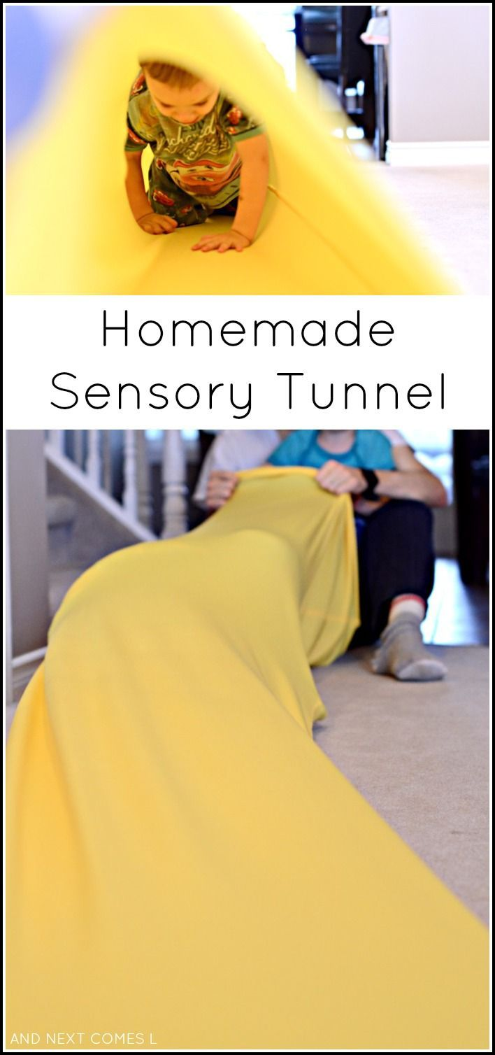 Tutorial for making a homemade sensory tunnel - a perfect tool for kids sensory play
