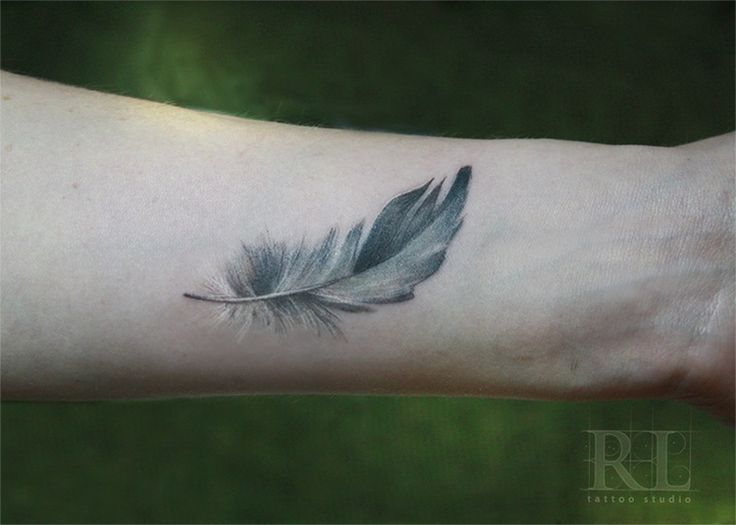 Feather tattoo (meaning sister)