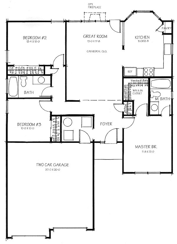 Plan 4802zg split bedroom privacy ranch house and bedrooms for 7 bedroom ranch house plans
