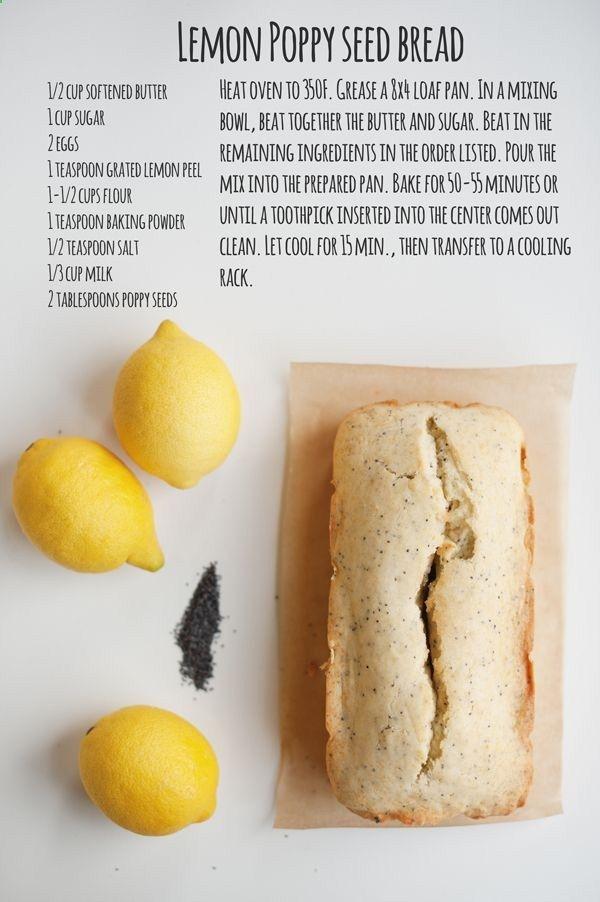 Lemon Poopy Seed Bread
