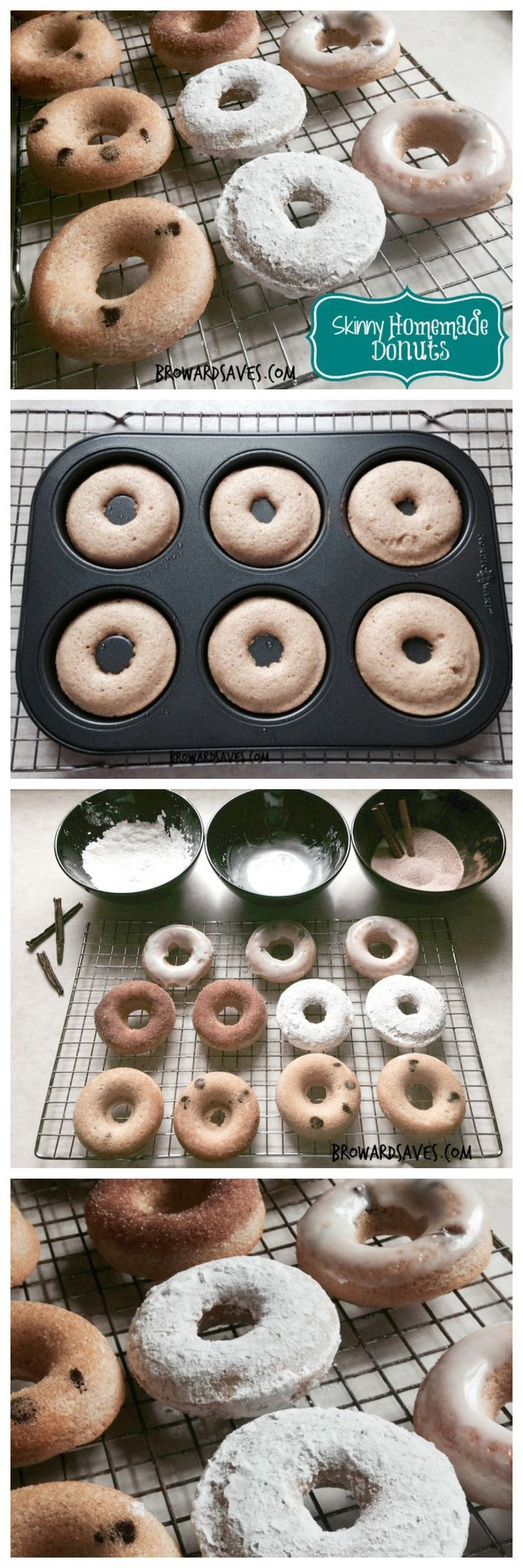 Skinny homemade Donuts - Only 60 calories each and so much flavor! This is the best donut recipe you will every try and so easy to make.