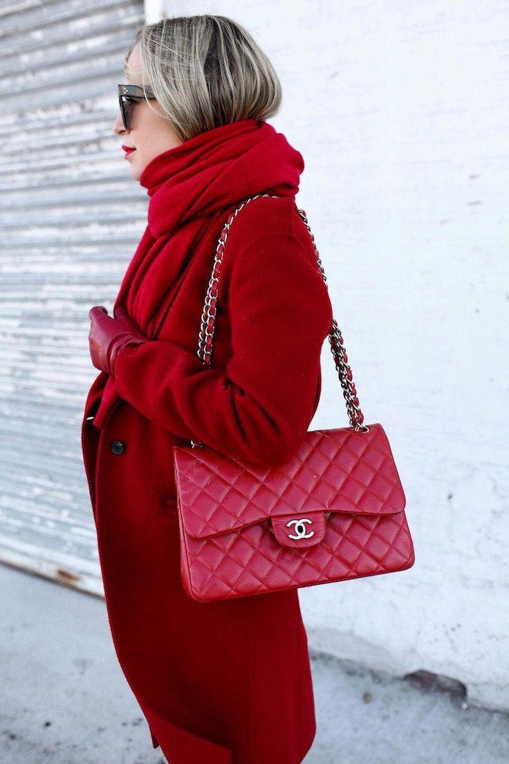 шарф к красному пальто фото собаководстве сразу