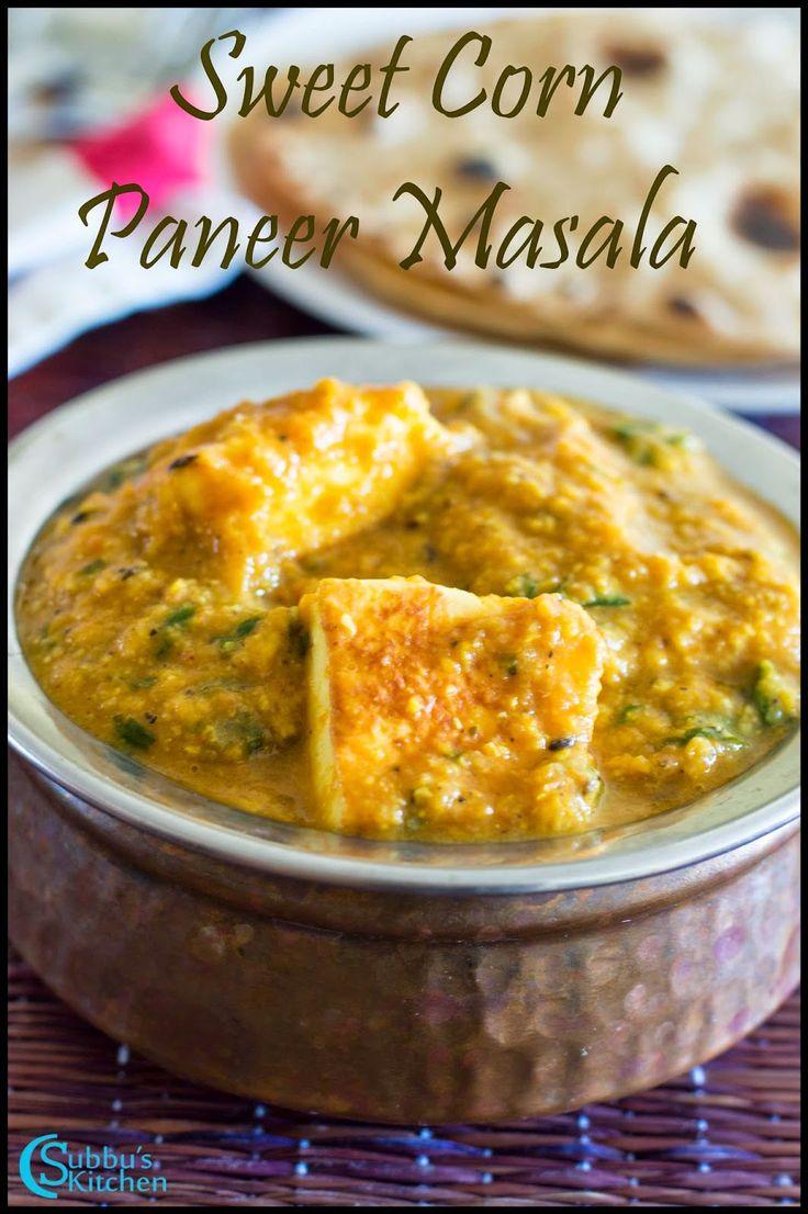 Sweetcorn Paneer Masala Recipe