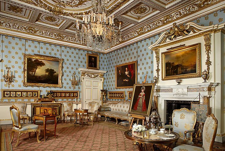 woburn abbey interior | Blue Drawing Room