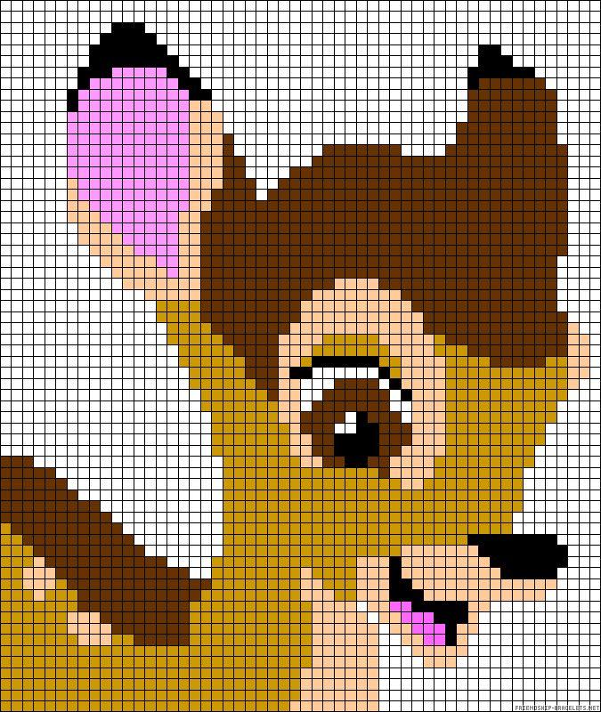 Bambi perler bead pattern