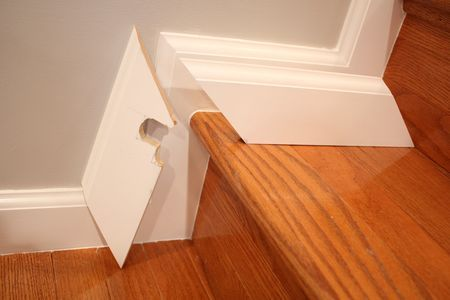 Perfect ... Molding Ideas For Stairs : Baseboard Around Hardwood Step For The Home  Pinterest Studios ...
