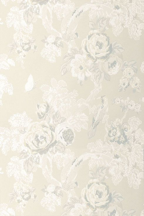 french wallpaper patterns | french wallpapers wild flora bird in the bush white white anna french ...