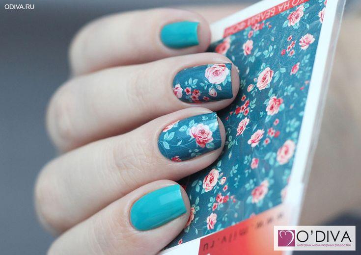 "Milv, слайдер-дизайн ""Цветы N207"" http://odiva.ru/~3hLJx Milv, лак для ногтей (#36) http://odiva.ru/~mnmhq  #milv #милв #водныенаклейки #наклейкидляногтей #слайдердизайн #наклейкинаногти #дизайнногтей #ногти #идеиманикюра #маникюр"
