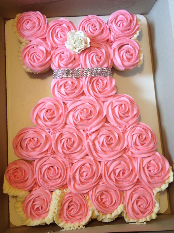 Princess Dress Cake Made Out Of Cupcakes