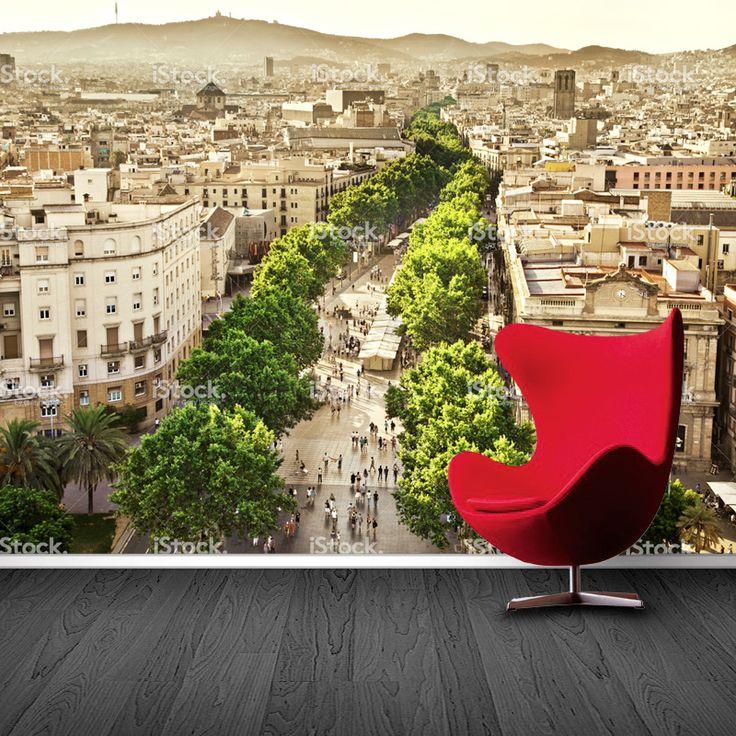 Fotobehang Barcelona | Maak het jezelf eenvoudig en bestel fotobehang voorzien van een lijmlaag bij YouPri om zo gemakkelijk jouw woonruimte een nieuwe stijl te geven. Voor het behangen heb je alleen water nodig!   #behang #fotobehang #print #opdruk #afbeelding #diy #behangen #stad #barcelona #spanje #europa