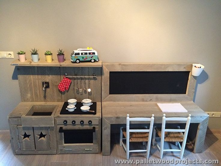 Pallet Play Kitchen and Furniture for Kids
