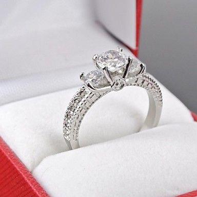 anillo de la corona de tono gliten zirconia cúbica Luxuriou de las mujeres – EUR € 8.11