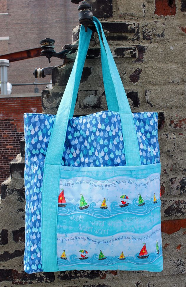 Row By Row H20 Bag Free Pattern Download Sewing Bags