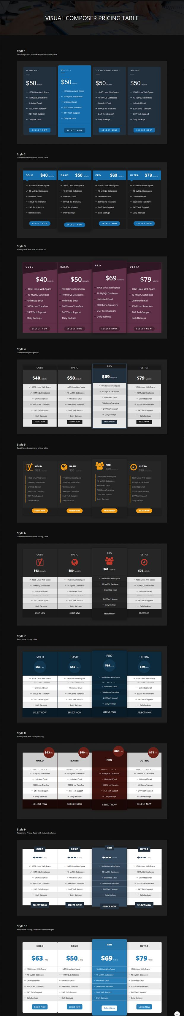 Malkoo Pricing Table Addon For Visual Composer (Add-ons)