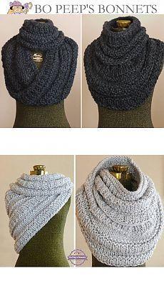 Модные шарфы-СНУДЫ (Snood) спицами 4.Идеи и описания.16 Моделей.