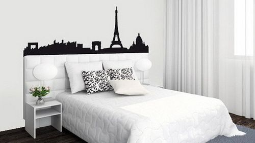 Website photo caption black white pink paris themed for Black themed bedroom