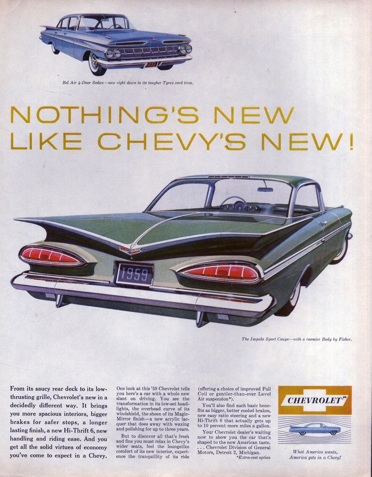 Chevy's new, Impala Sports Coupe 1959