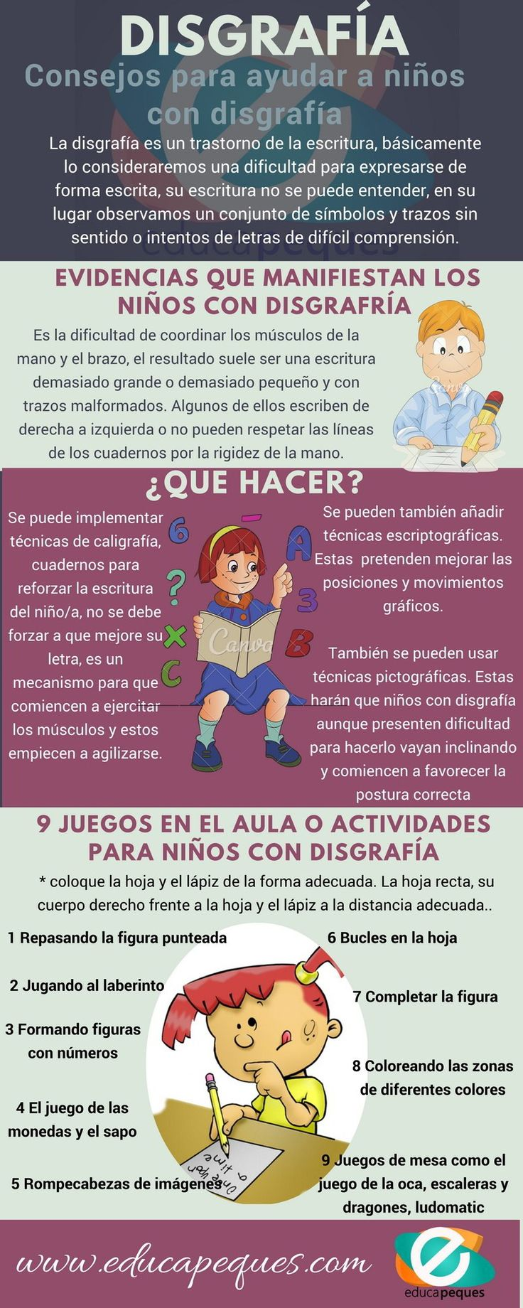 Disgrafía en los niños