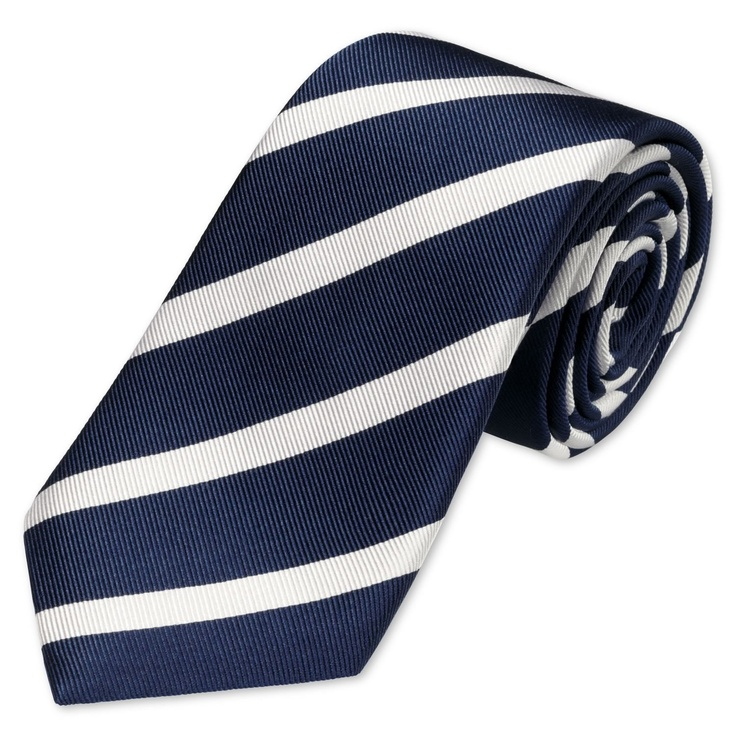 Navy & white reppe woven tie   Mens woven silk ties from Charles Tyrwhitt   CTShirts.com
