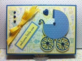 Baby Boy Card. Cricut New Arrival Cartridge.