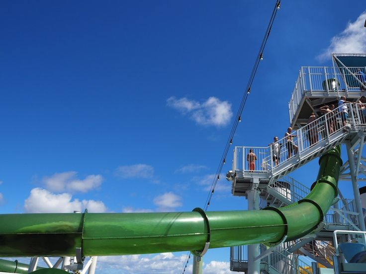 Making a splash on the Green Thunder waterslide
