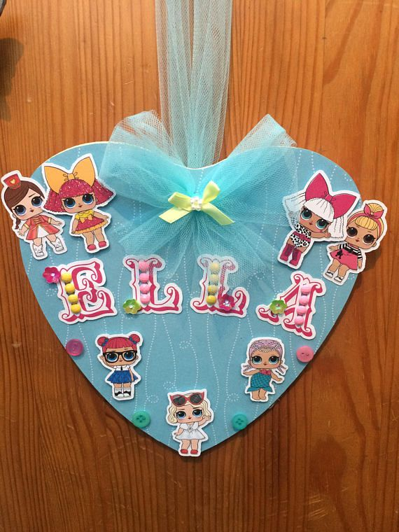 Plaques Signs Door Hanging Sign Lol Dolls Personalised Room Plaque Girls Bedroom Decoration Home Furniture Diy Etiqu In