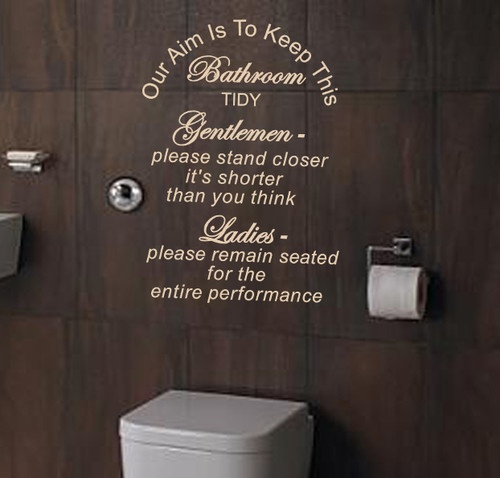 keep this barhroom tidy wall quote decal wall art waterproof n58 bathroom