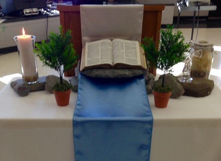 Church Altar #ChurchService #ChurchDecorations www.unitedfaithchurch.org