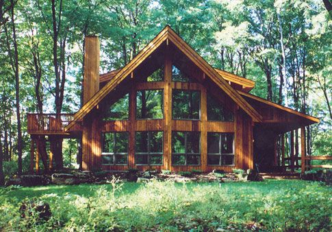 Woodland Post and Beam Retreats & Cottages Home Plans Area 1457 Sq Ft Main Floor 989 Upper Floor 468 Bedrooms 2 Bathrooms 2 Width 40 Depth 38