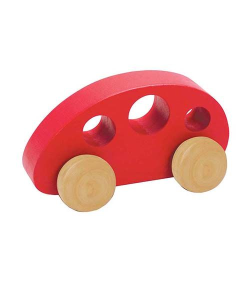 Mini Van Red From Hape from The Wooden Toybox