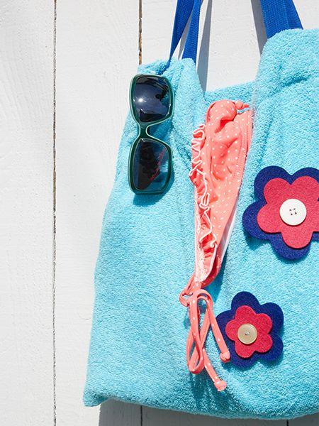 Strandtasche DIY aus alten Handtüchern