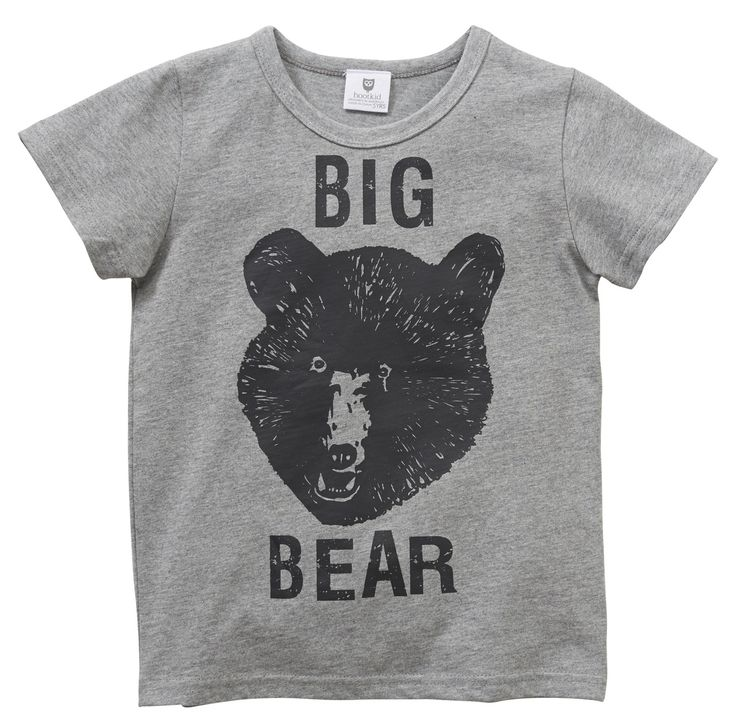 Machiko - a boutique for kids - Hootkid | Grey Marle Big Bear Tee, $19.95 (http://www.machikobaby.com.au/products/hootkid-grey-marle-big-bear-tee.html)