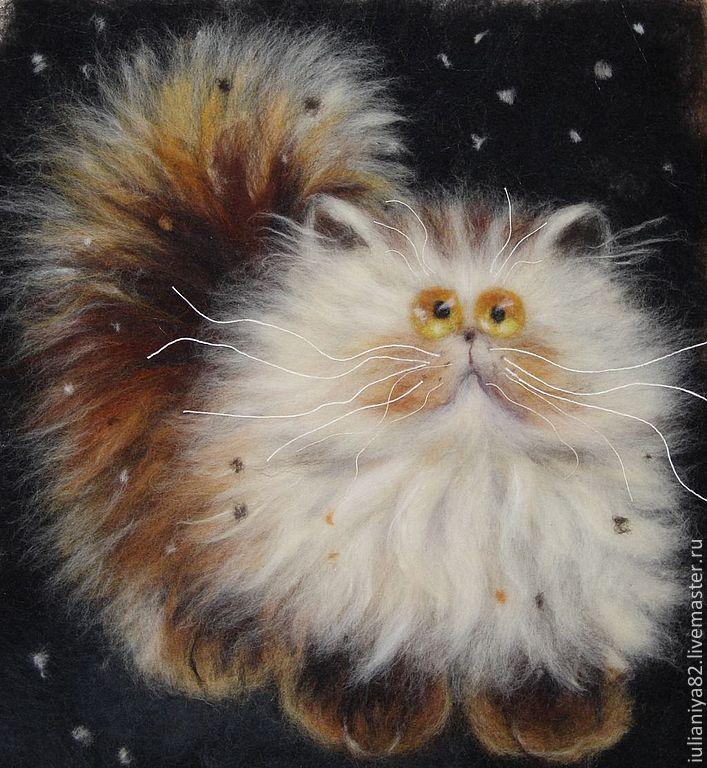 самые картины из шерсти котики фото тот