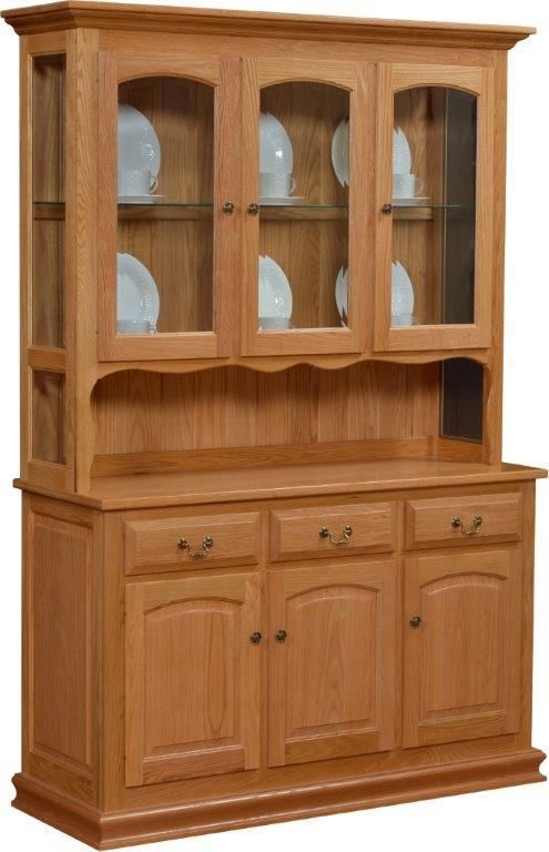Lovely Light Oak China Cabinet