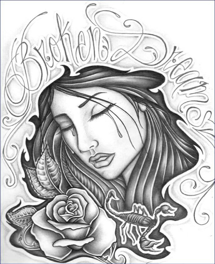 Chicano Art Coloring Pages 17 Best images about GANGSTER ART on Pinterest Chicano
