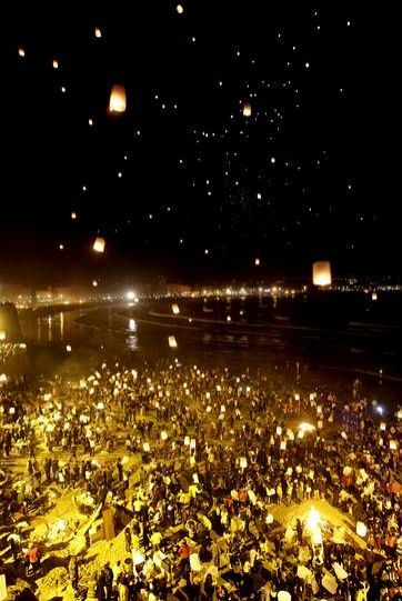 San Juan's night. La Coruña, Spain