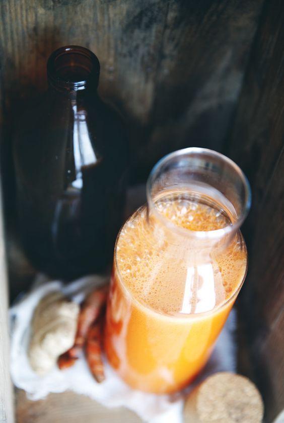 Immunboostande morotsjuice med ingefära & gurkmeja