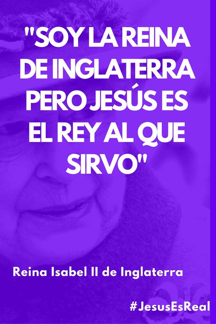 La reina de Inglaterra tiene claro quien es su rey #JesusEsReal