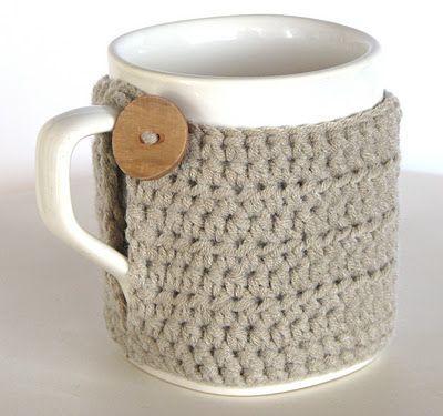 Cubre tazas de crochet