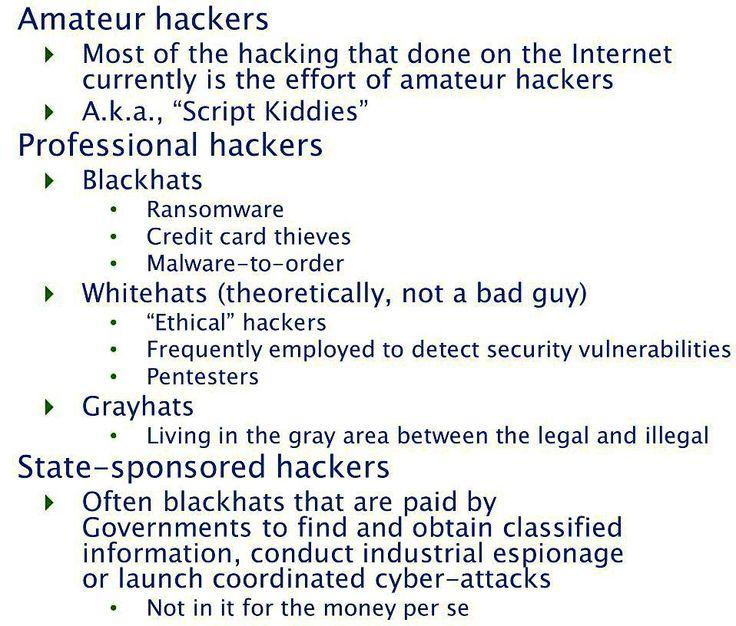 Lendo algumas documentações sobre o tal do mundo #maker encontrei esta classificação sobre os tipos de #hackers e ai fiquei pensando: onde é que eu me encaixo  se é que eu me encaixo. E você  onde se encaixa?  #security #IOT #internetofthings #project #embedded #Electronic by afcunha01