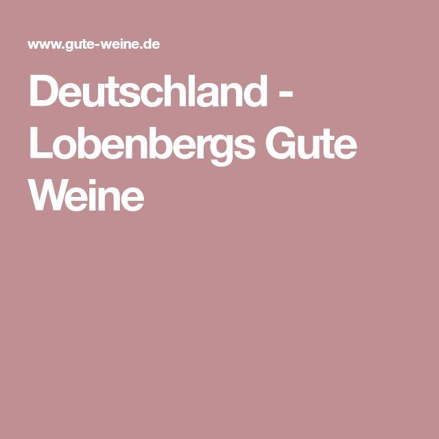 Deutschland - Lobenbergs Gute Weine