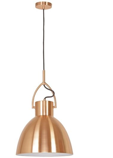 Perno.30 Metal Shade Pendant - Brushed Copper, Pendants, Contemporary, New Zealand's Leading Online Lighting Store