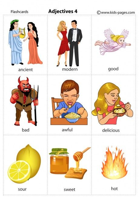 Kids Pages - Adjectives 4 - Opposites