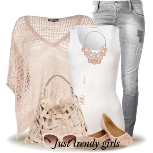 chunky pastel sweater, Outfits in earthy tones for woman http://www.justtrendygirls.com/outfits-in-earthy-tones-for-woman/