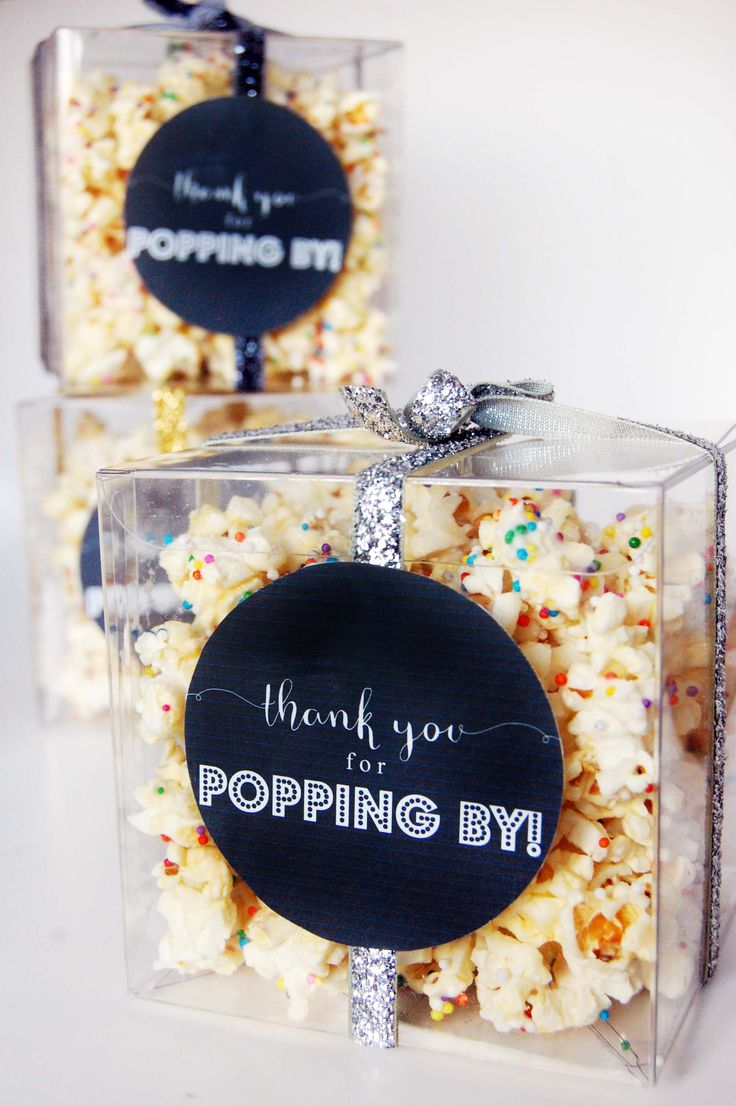 party popcorn recipe + a free printable favour tag!