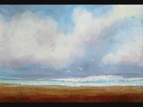 How to paint a beach in watercolor by Lori Andrews