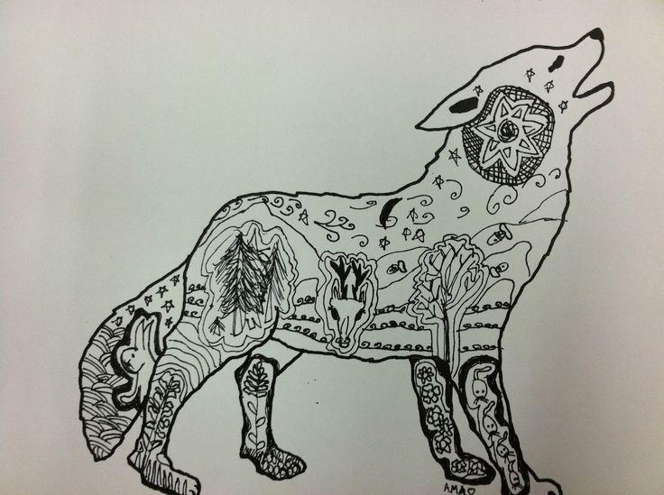 dog: Art Lessons, Animal Projects, Zentangle Habitats, Art Ideas, Animal Habitats, Habitats Art, Art Ed Preschool, Arcan Art, Classroom Art