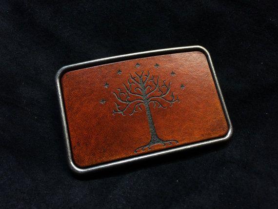 Tree of Gondor LOTR belt buckle
